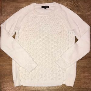 Banana Republic white sweater. XS